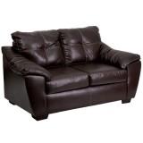1250 Thomas Mahogany Bonded Leather Loveseat [AM-C1252-4110-GG]