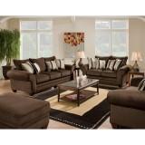 3700 Series 4 Piece Living Room Set in Waverly Godiva [AM-C3700-3920-LIVING-SET-GG]