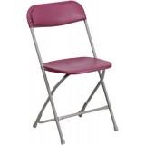 HERCULES Series 440 lb. Capacity Premium Burgundy Plastic Folding Chair [BH-D0001-BG-GG]