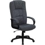 High Back Gray Fabric Executive Office Chair [BT-9022-BK-GG]