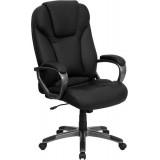 High Back Black Leather Executive Office Chair [BT-9066-BK-GG]