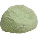 Oversized Green Dot Bean Bag Chair [DG-BEAN-LARGE-DOT-GRN-GG]