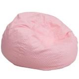 Oversized Light Pink Dot Bean Bag Chair [DG-BEAN-LARGE-DOT-PK-GG]