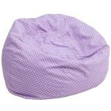 Oversized Lavender Dot Bean Bag Chair [DG-BEAN-LARGE-DOT-PUR-GG]