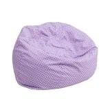 Small Lavender Dot Kids Bean Bag Chair [DG-BEAN-SMALL-DOT-PUR-GG]