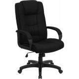 High Back Black Fabric Executive Office Chair [GO-5301B-BK-GG]