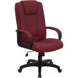 High Back Burgundy Fabric Executive Office Chair [GO-5301B-BY-GG]