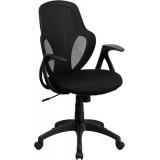 Mid-Back Executive Black Mesh Chair with Nylon Base [H-8880F-BK-GG]
