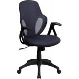 Mid-Back Executive Dark Gray Mesh Chair with Nylon Base [H-8880F-DK-GRY-GG]