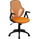 Mid-Back Executive Orange Mesh Chair with Nylon Base [H-8880F-ORG-GG]