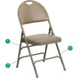 HERCULES Series Extra Large Ultra-Premium Triple Braced Beige Vinyl Metal Folding Chair with Easy-Carry Handle [HA-MC705AV-3-BGE-GG]