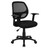 Mid-Back Black Mesh Computer Chair [LF-W-118A-BK-GG]