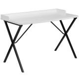 White Computer Desk [NAN-2140-WH-GG]