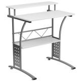 Clifton White Computer Desk [NAN-CLIFTON-WH-GG]