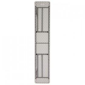 18''W x 96''L Granite White Plastic Folding Training Table [RB-1896-GG]