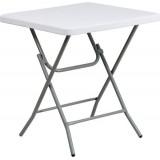 27'' Square Granite White Plastic Folding Table [RB-2727-74-GG]