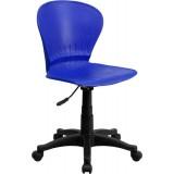 Mid-Back Blue Plastic Swivel Task Chair [RUT-A103-BLUE-GG]