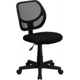 Mid-Back Black Mesh Task Chair and Computer Chair [WA-3074-BK-GG]