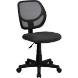 Mid-Back Gray Mesh Task Chair and Computer Chair [WA-3074-GY-GG]