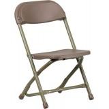 Kids Brown Plastic Folding Chair [Y-KID-BN-GG]