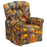 Kids Orange Camouflage Fabric Rocker Recliner [YG-RR-3-GG]
